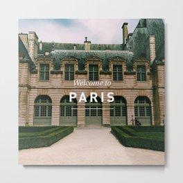 Welcome to Paris: Hotel de Sully, Le Marais Metal Print
