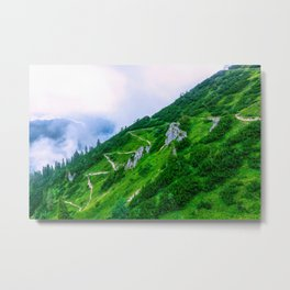 The steep path on the mountain Metal Print