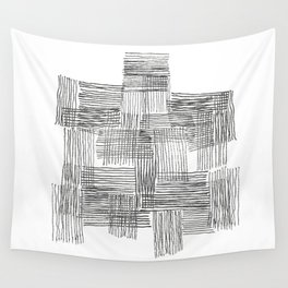 Parallel and perpendicular pencil lines Wall Tapestry