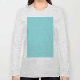 Pale Turquoise Long Sleeve T-shirt
