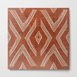 Birch in Rust Metal Print
