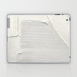 Relief [2]: an abstract, textured piece in white by Alyssa Hamilton Art Laptop & iPad Skin