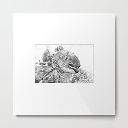 This Trout Means Business Metal Print