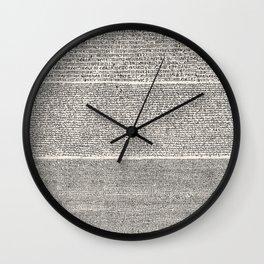 The Rosetta Stone // Antique White Wall Clock