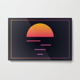 Retrowave sunset 1 / 80s - 90s Retro Metal Print