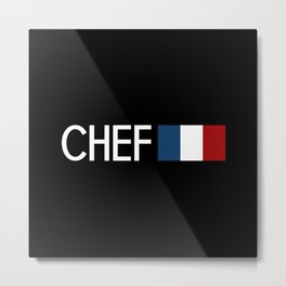 Chef (French Flag) Metal Print