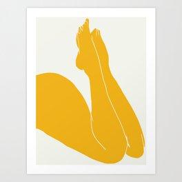 Nude in yellow 3 Art Print