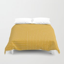 Lines / Yellow Duvet Cover