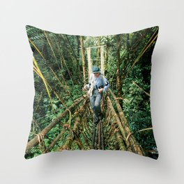 Vine Bridge of Death: Papua New Guinea Throw Pillow