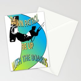 Dawn Patrol - Be Up With The Boards Kitesurf Stationery Cards
