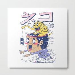 Cat Rod Metal Print