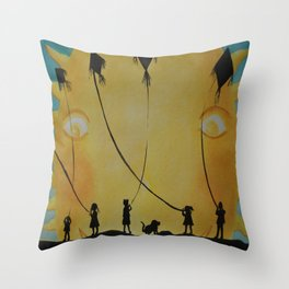 Papalotes (kites) Throw Pillow