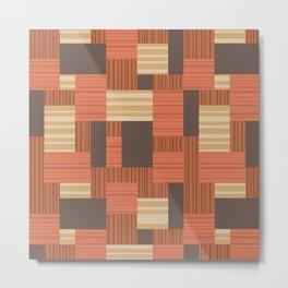 Geometric Midcentury Pattern 4 Metal Print