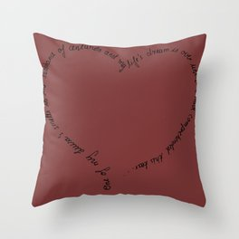 Intrigue and Love Throw Pillow