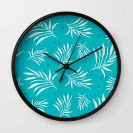 Island Breeze Aqua Wall Clock