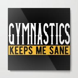 Gymnastic Lovers Gift Idea Design Motif Metal Print