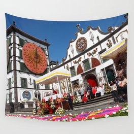 Religious festival in Azores Wall Tapestry