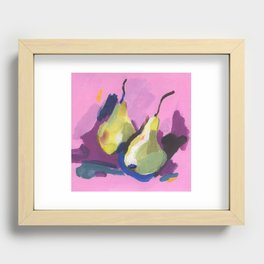 Pears Recessed Framed Print