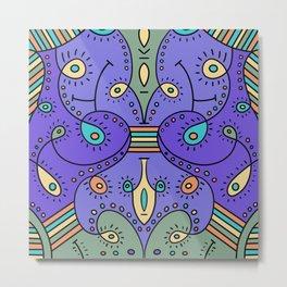 Abstracted Peacock Metal Print
