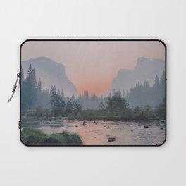 Yosemite Valley Sunrise Pretty Pink Laptop Sleeve