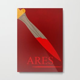 Poster for the greek god of war Ares Metal Print