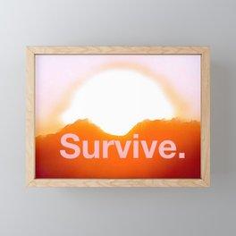 Survival Framed Mini Art Print