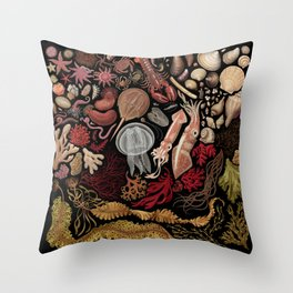 Intertidal Life of the North Atlantic (without species list) Throw Pillow