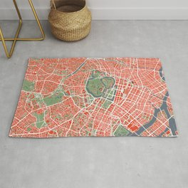 Tokyo city map classic Rug