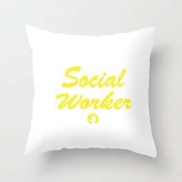 Social Worker Heart Social work Lover Gift  Throw Pillow