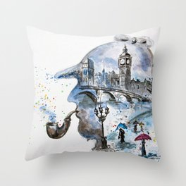 Mr. Sherlock Throw Pillow