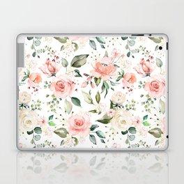 Sunny Floral Pastel Pink Watercolor Flower Pattern Laptop & iPad Skin
