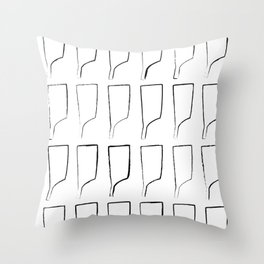 Rowing Oars 6 Throw Pillow