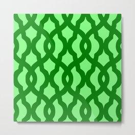 Grille No. 2 -- Lime Metal Print