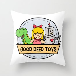 Good Deed Toys Throw Pillow