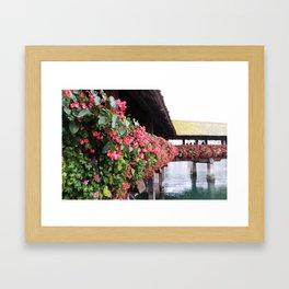 CHAPEL BRIDGE IN THE FALL Framed Art Print
