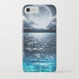 Full Moon over Ocean iPhone Case