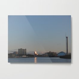 Scottish Photography Series - River Clyde Sunset Metal Print