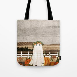 There's a Ghost in the Pumpkins Patch Again... Tote Bag