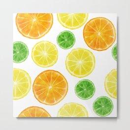 Citrus medley! Oranges, lemons, and limes.  Metal Print