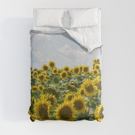 Sunflower Fields Comforters