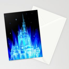 Blue Ice Frozen Enchanted Castle Stationery Cards