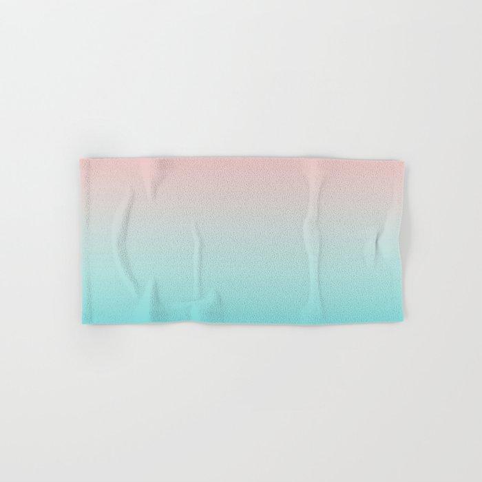 Pastel Ombre Millennial Pink Blue Teal Gradient Pattern Hand & Bath Towel