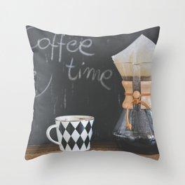 Coffee Time! Photo of coffee and mug Throw Pillow