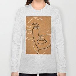 Abstract Face 6 Long Sleeve T-shirt