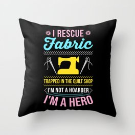 Sewing Quilting Gift Throw Pillow