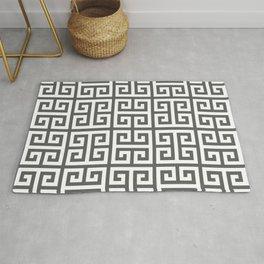 Greek Key (Grey & White Pattern) Rug