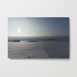 beautiful winter field Metal Print