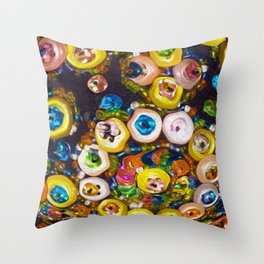 Jeweled Buttons Throw Pillow