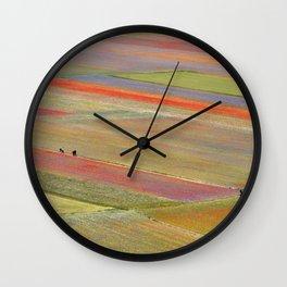 The colors of Castelluccio Wall Clock