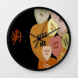Cupid in search mode-Sepia Wall Clock